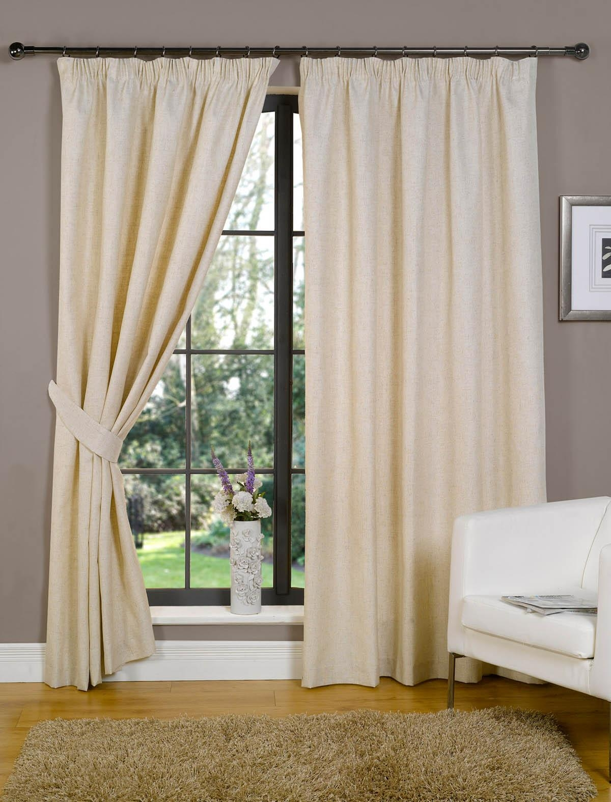 Cream Pencil Pleat Curtains Affordable Curtains Available Intended For Lined Cream Curtains (View 7 of 15)