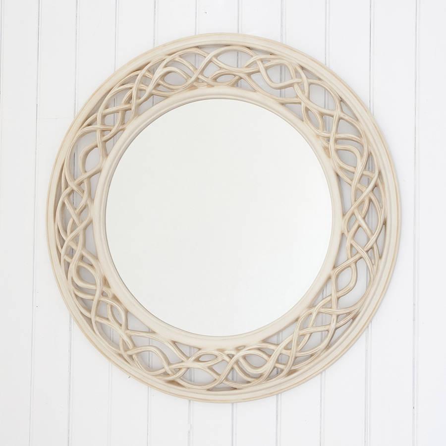 Cream Twisted Round Mirror Decorative Mirrors Online With Regard To Cream Mirror (View 2 of 15)