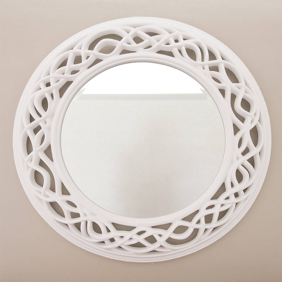 Cream Twisted Round Mirror Hallways Mirror Walls And Products Inside White Round Mirror (Image 4 of 15)