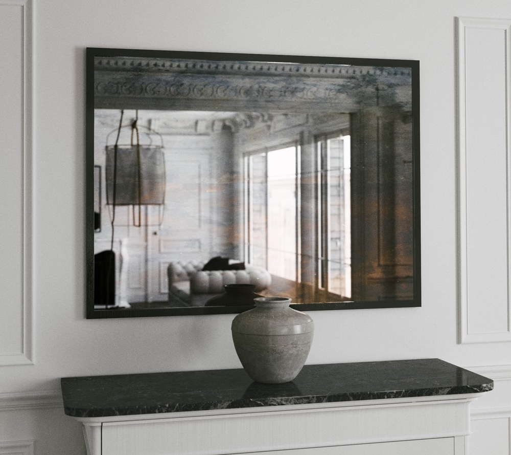 Creative Design Large Framed Wall Mirrors Wonderful Ideas Large For Large Black Mirrors (Image 10 of 15)