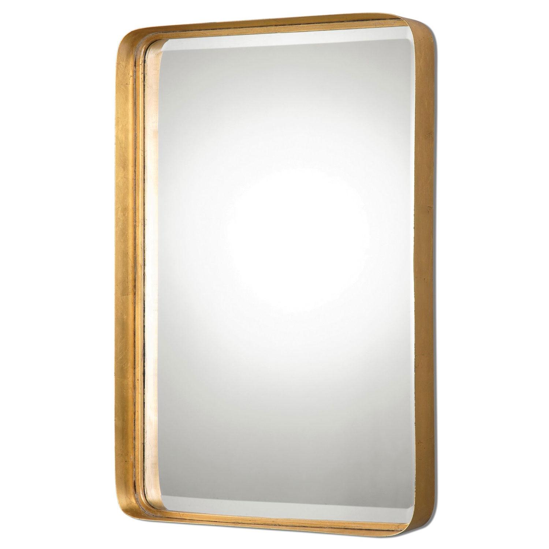 Crofton Antique Gold Mirror Uttermost Rectangle Mirrors Home Decor Regarding Gold Antique Mirrors (View 14 of 15)