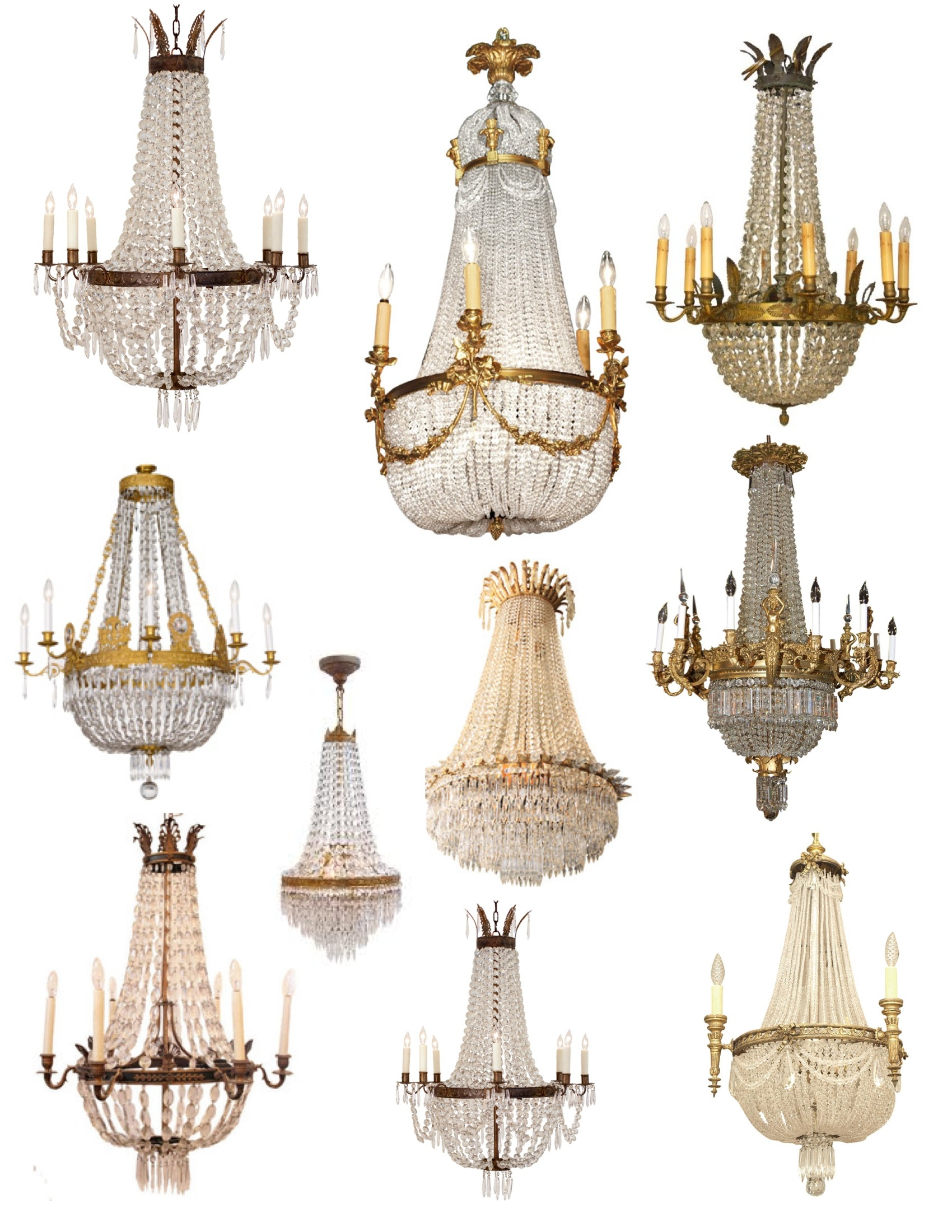 Crowned Magnificence The French Empire Crystal Chandelier Lamp For Vintage French Chandeliers (Image 9 of 15)