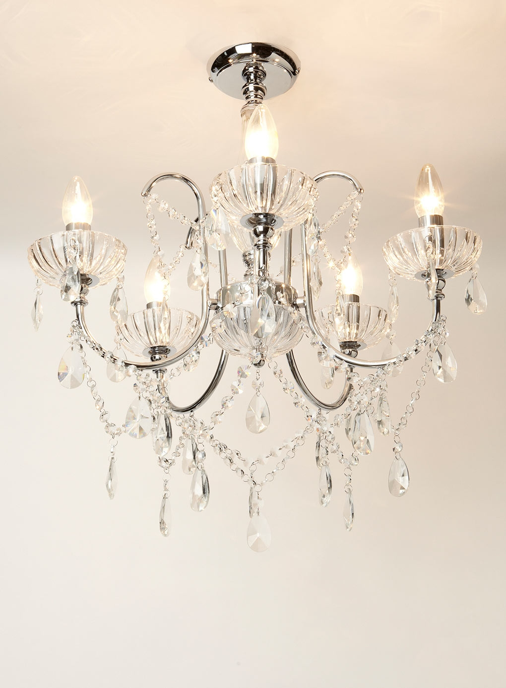 Crystal Ceiling Lights Crystal Globe Pendant Light Lowes Pendant Pertaining To Flush Fitting Chandelier (Image 8 of 15)
