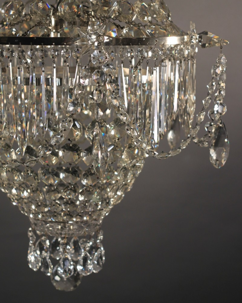 Crystal Chandelier Antique Waterfall Bag Crystal Chandelier Inside Waterfall Crystal Chandelier (Image 1 of 15)