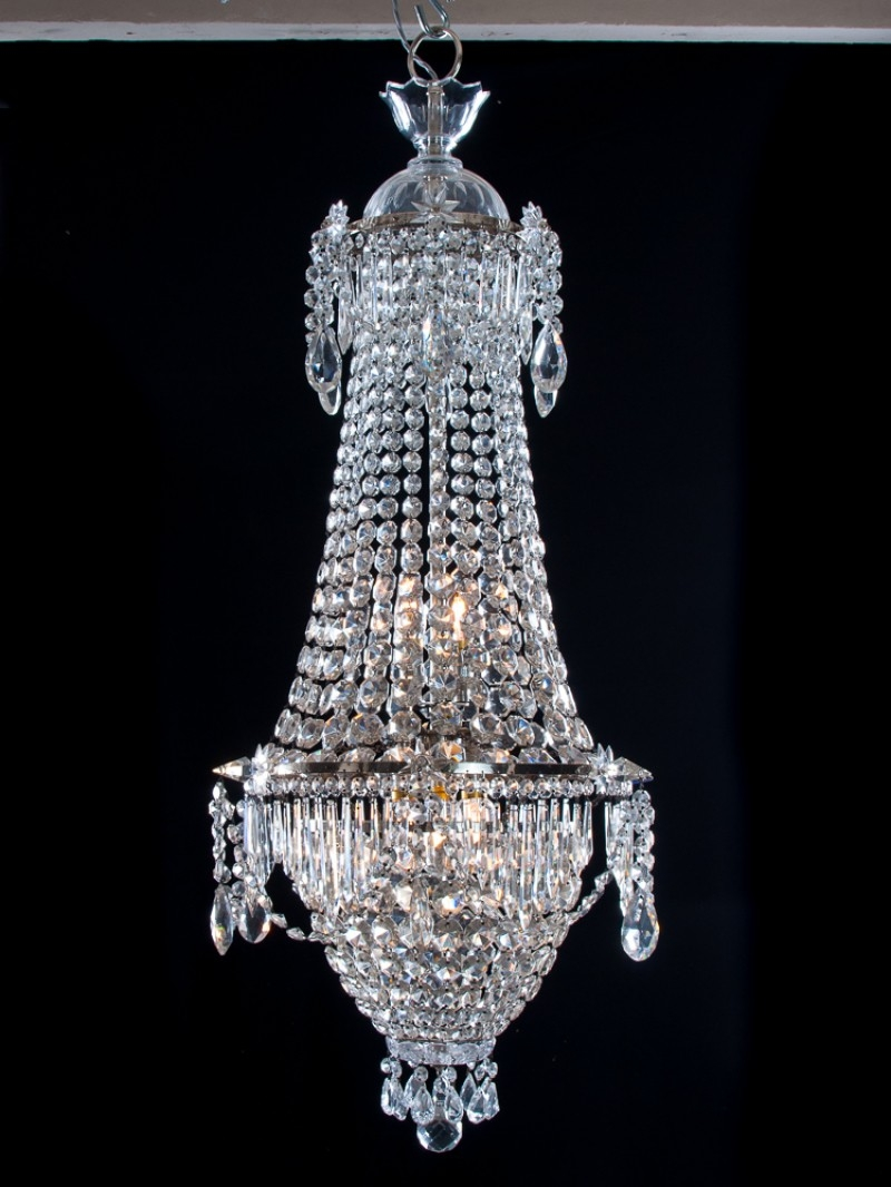 Crystal Chandelier Antique Waterfall Bag Crystal Chandelier Regarding Waterfall Crystal Chandelier (Image 2 of 15)
