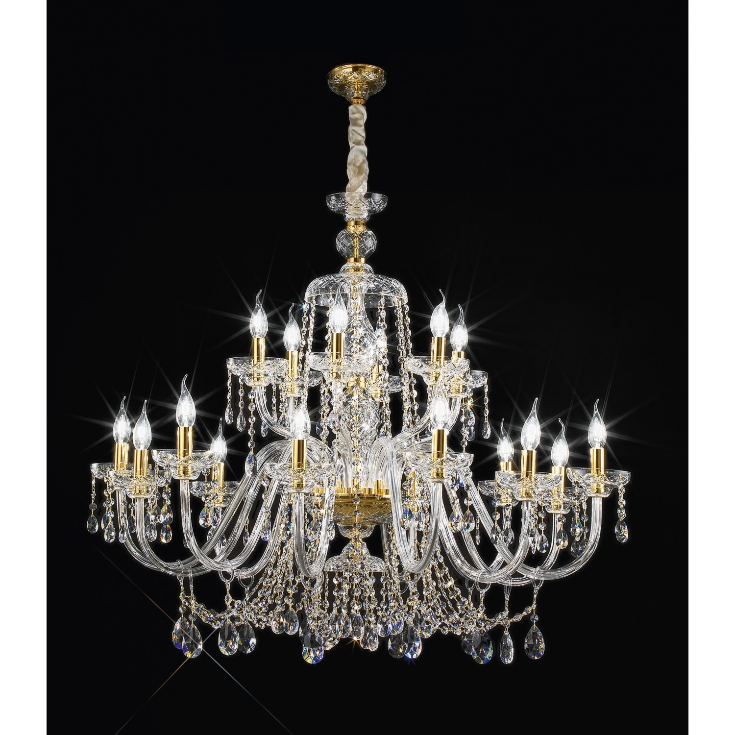 Crystal Chandelier Asfur 444126asf For Lead Crystal Chandelier (Image 11 of 15)