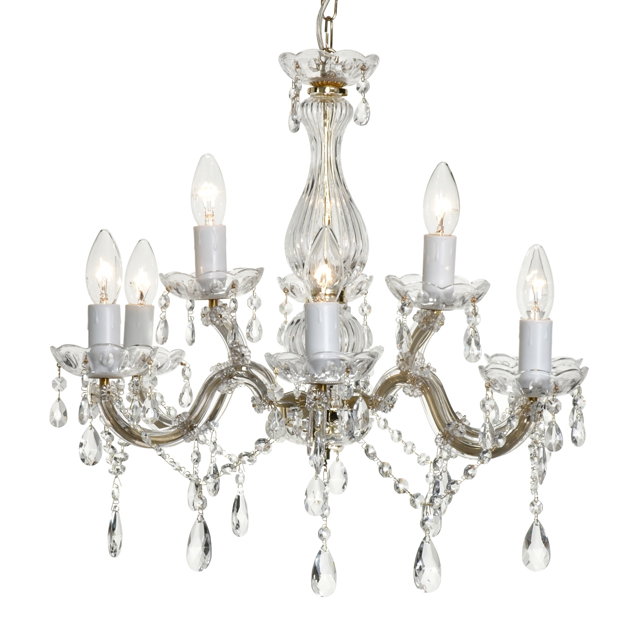 Crystal Chandelier Home Design Ideas Within Crystal Gold Chandelier (Image 10 of 15)