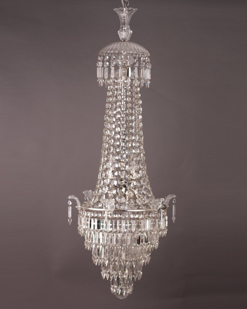 Crystal Chandelier Stunning Waterfall And Bag Crystal Chandelier Intended For Waterfall Crystal Chandelier (Image 4 of 15)