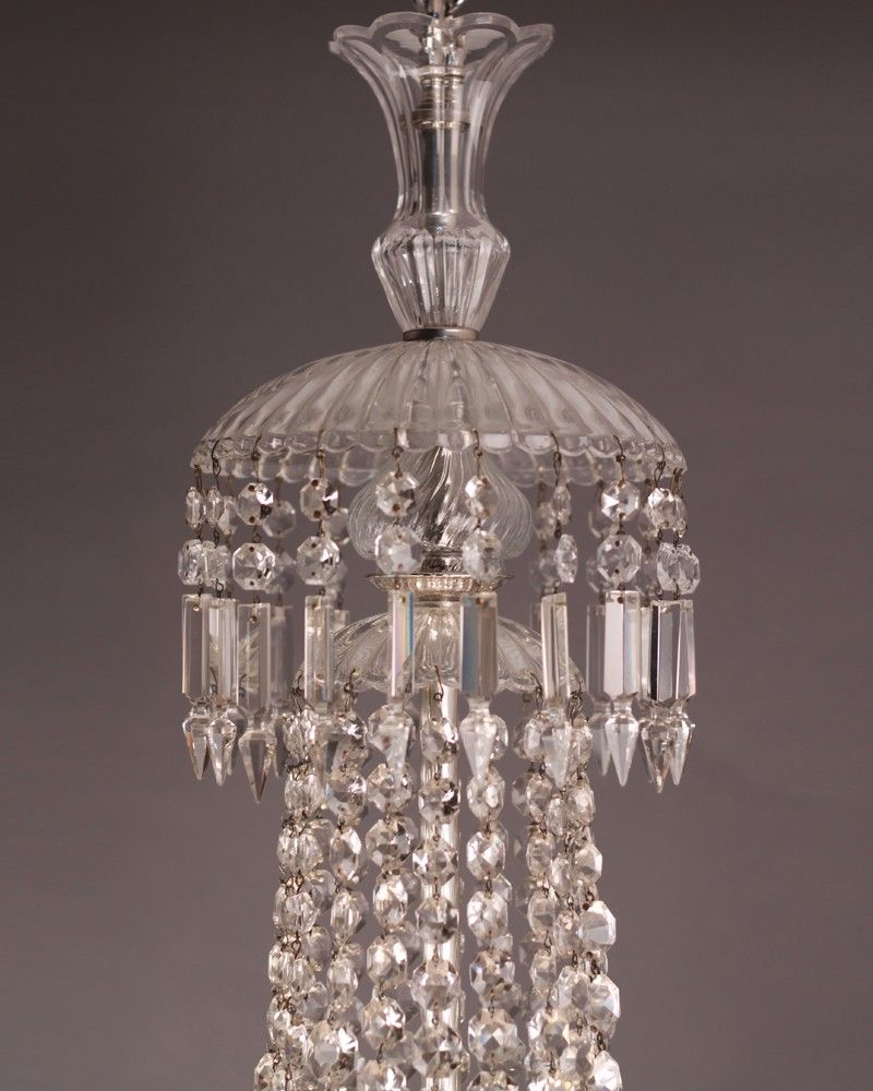 Crystal Chandelier Stunning Waterfall And Bag Crystal Chandelier With Crystal Waterfall Chandelier (Image 6 of 15)