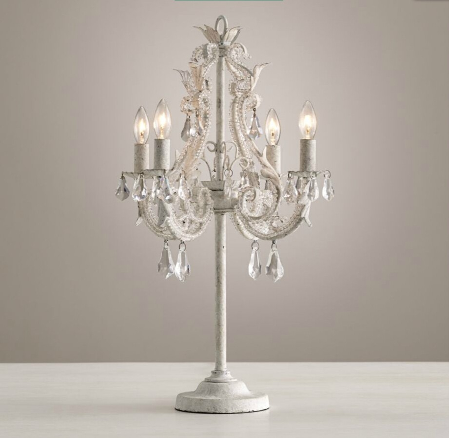 Crystal Chandelier Table Lamps In Home Decorating Ideas With Within Table Chandeliers (View 10 of 15)