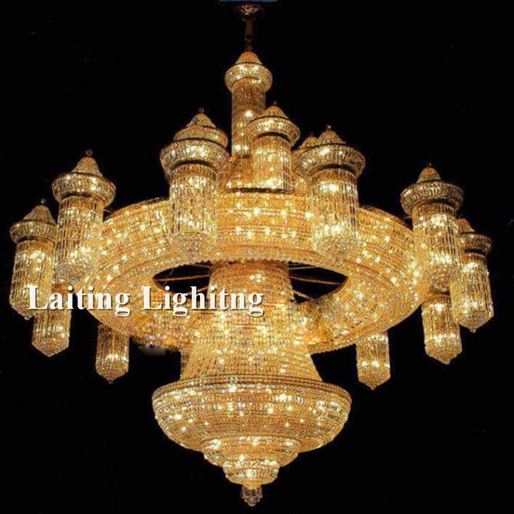 Crystal Custom Made Mosque Big Chandeliers Buy Mosque Big Throughout Big Chandeliers (Image 9 of 15)