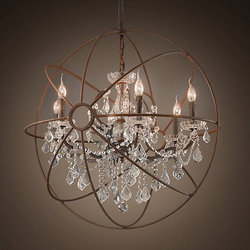 Crystal Globe Chandelier Wonderful Home Design Intended For Crystal Globe Chandelier (Photo 6 of 15)