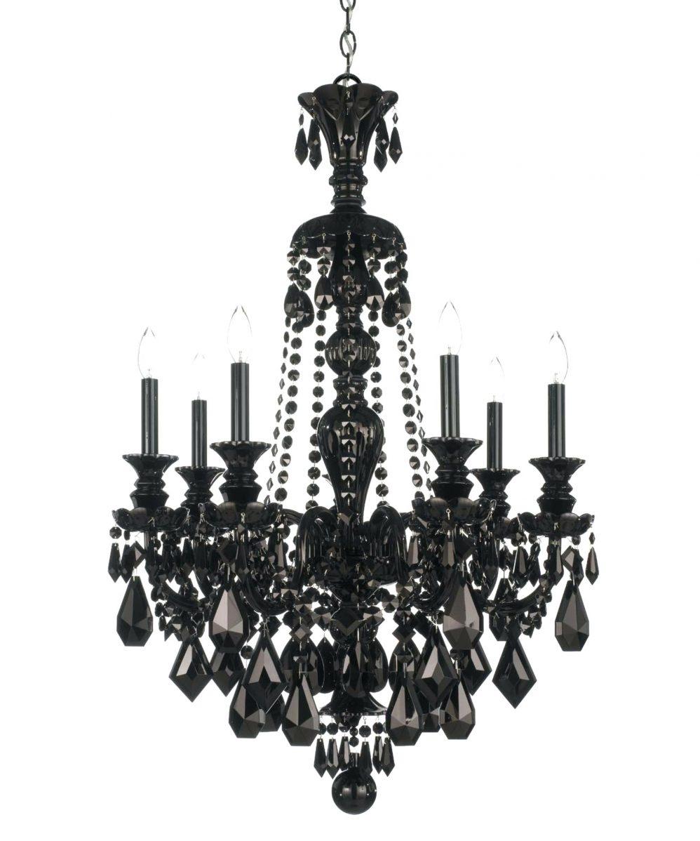 Crystal Pendant Chandelier Lighting Black And White Chandelier Inside Large Black Chandelier (Image 6 of 15)