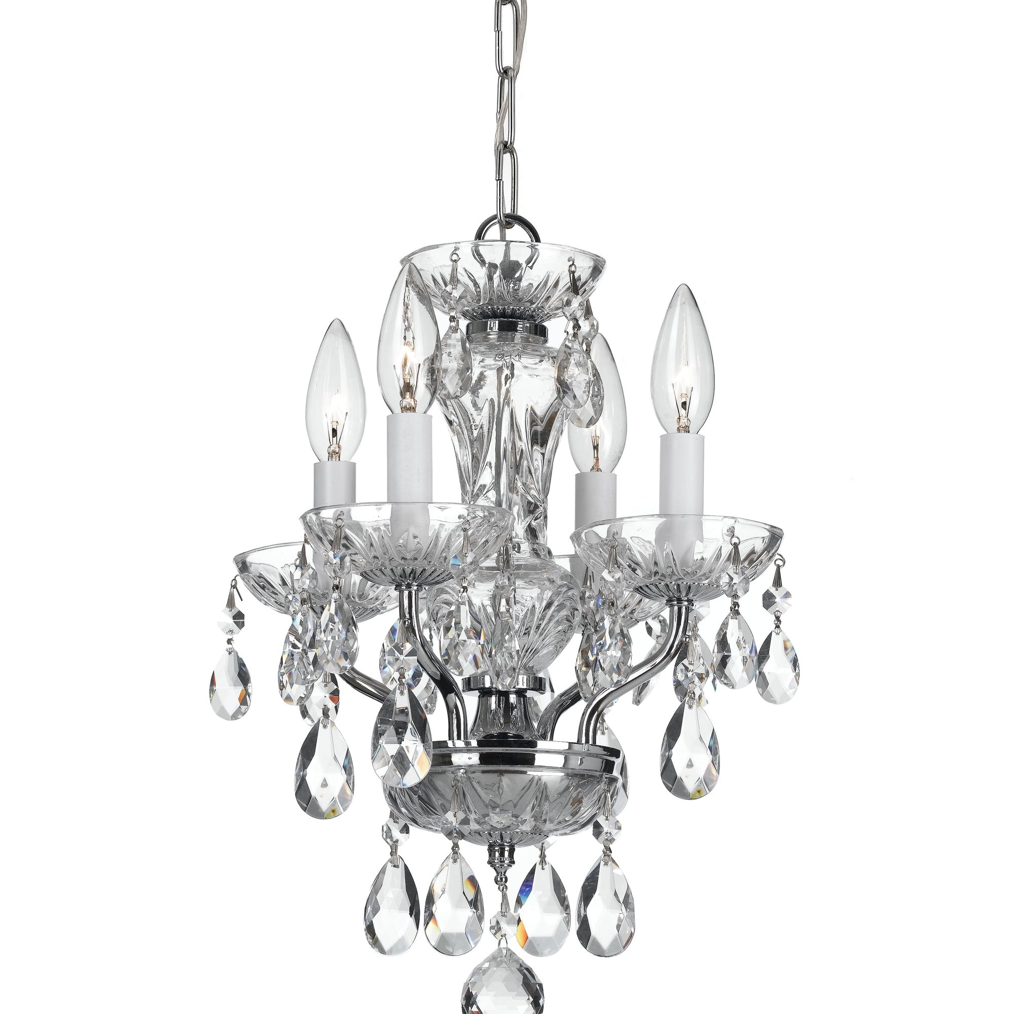 Crystorama Traditional Crystal 4 Light Crystal Chandelier With Traditional Chandelier (Image 3 of 15)