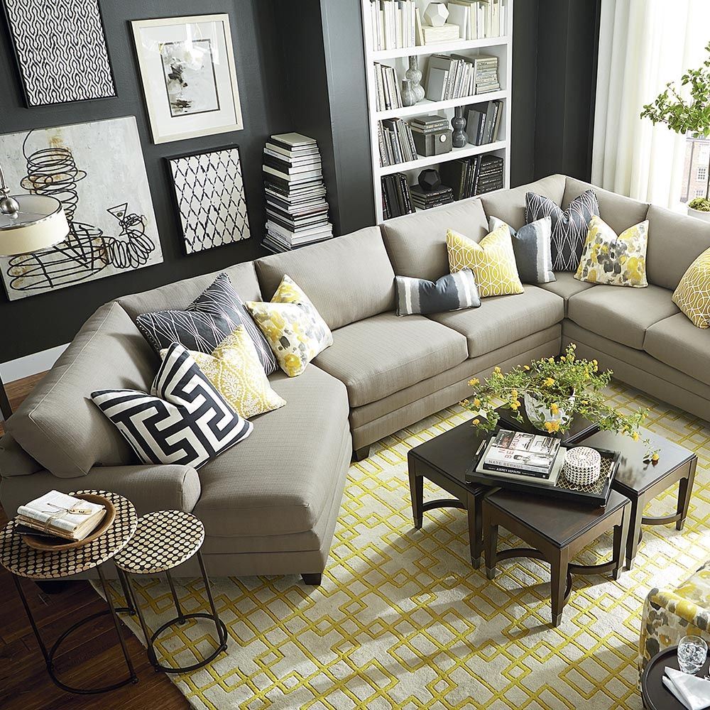 Cu2 Cuddler L Shaped Sectional Sectional Sofa Within Bassett Sectional Sofa (View 4 of 15)
