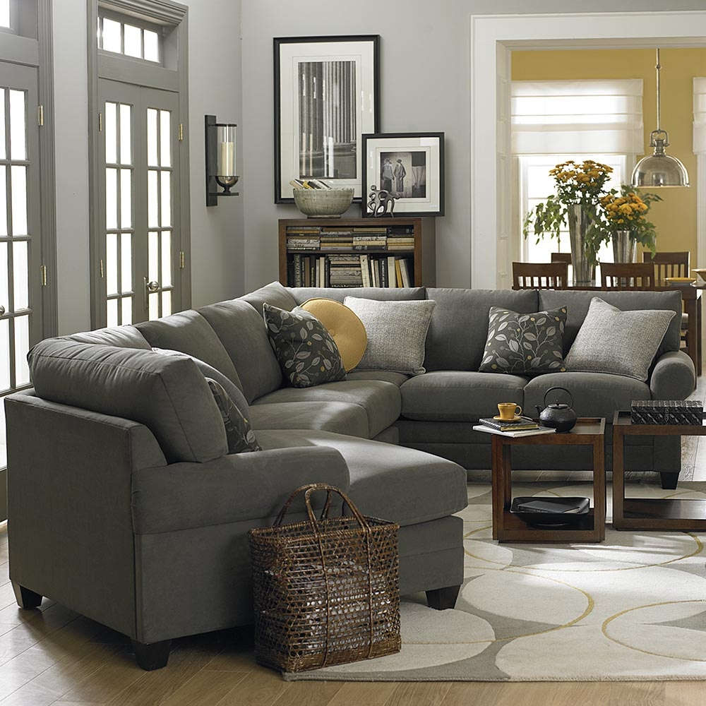 Cu2 Left Cuddler Sectional Sofa Bassett Home Furnishings With Bassett Sectional Sofa (Image 9 of 15)