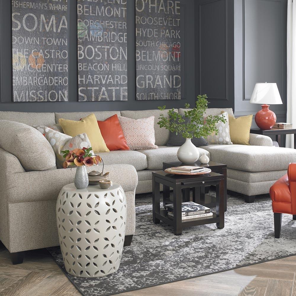 Cu2 U Shaped Sectional Furniture Bassett Home Furnishings With Regard To Bassett Sectional Sofa (View 14 of 15)