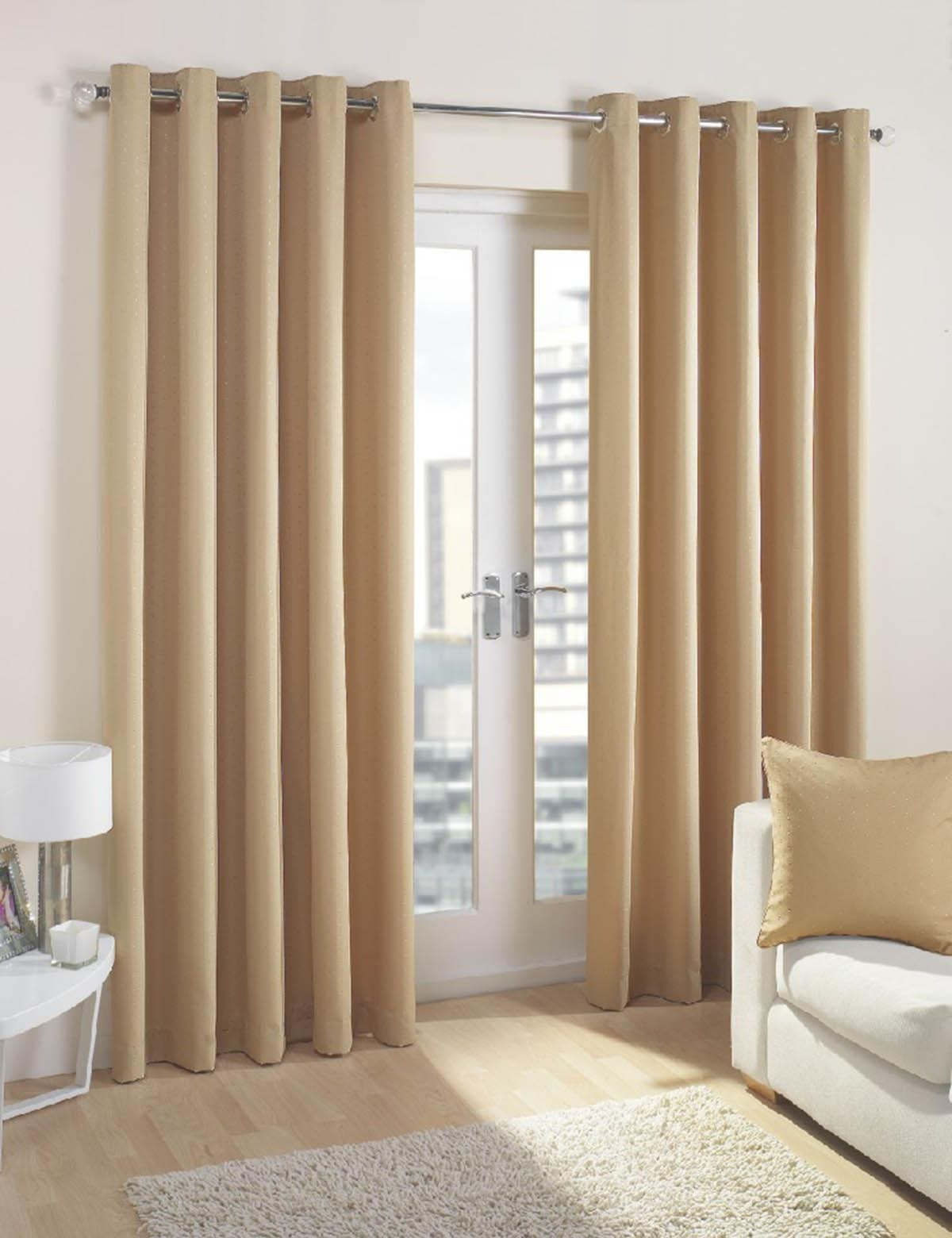 Featured Image of Cream And Gold Eyelet Curtains