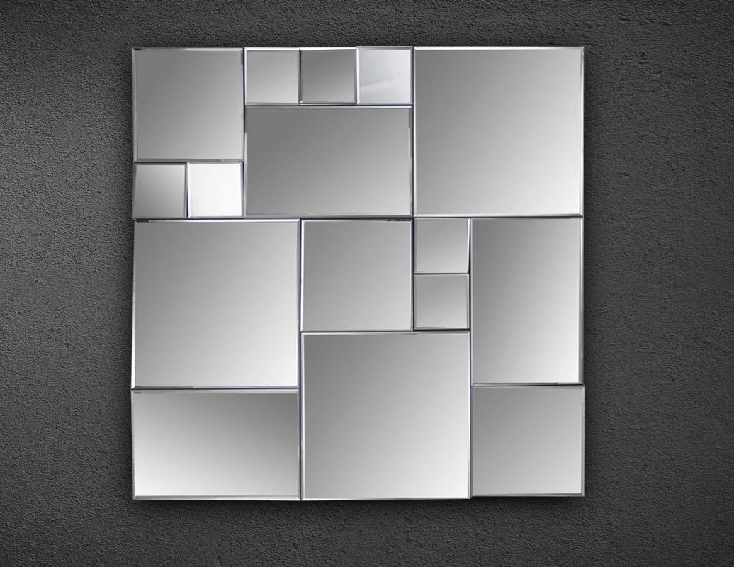 Cubist Square Wall Mirror In Square Wall Mirror (Image 7 of 15)