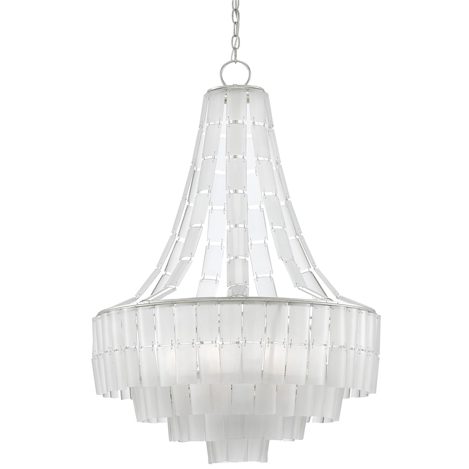 Currey And Company 9000 0159 Vintner Blanc 7 Light Contemporary Intended For White Contemporary Chandelier (Image 7 of 15)