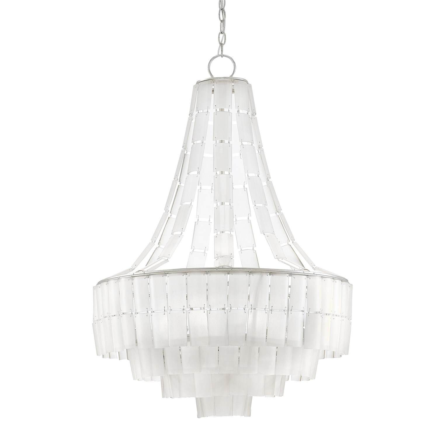 Currey And Company 9000 0159 Vintner Blanc 7 Light Contemporary Throughout White Contemporary Chandelier (Image 8 of 15)