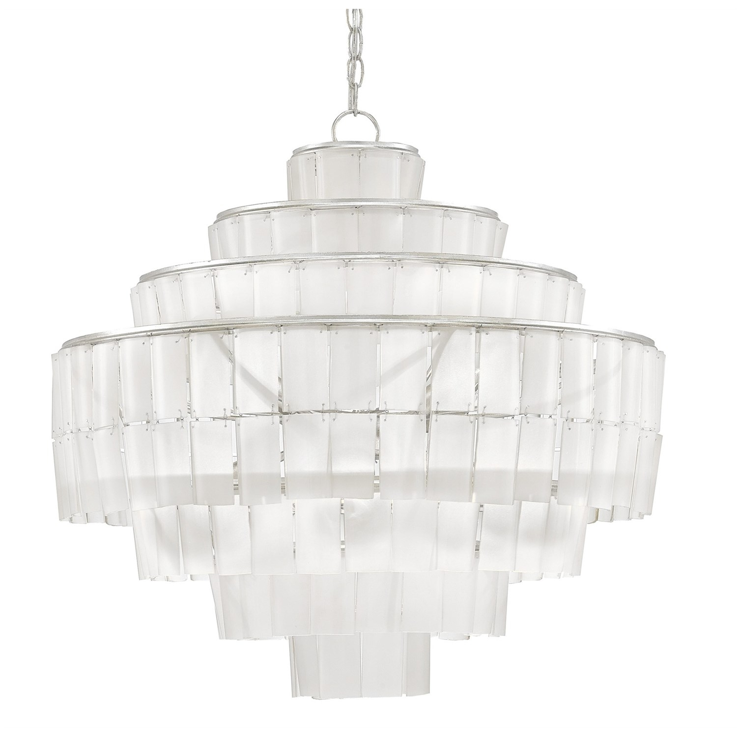 Currey And Company 9000 0160 Sommelier Blanc 8 Light Contemporary In White Contemporary Chandelier (Image 9 of 15)