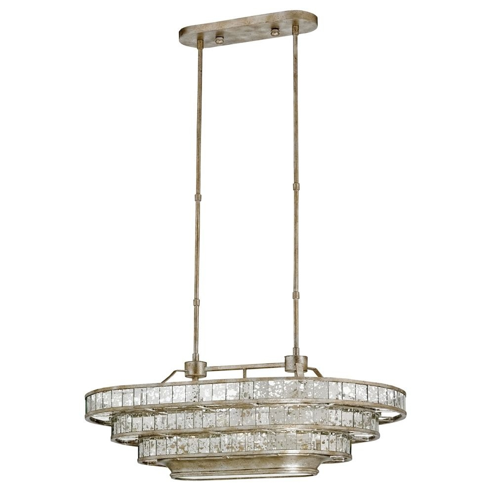 Currey And Company Lighting Frapp Silver Granello Raj Mirror Intended For Mirror Chandelier (View 10 of 15)
