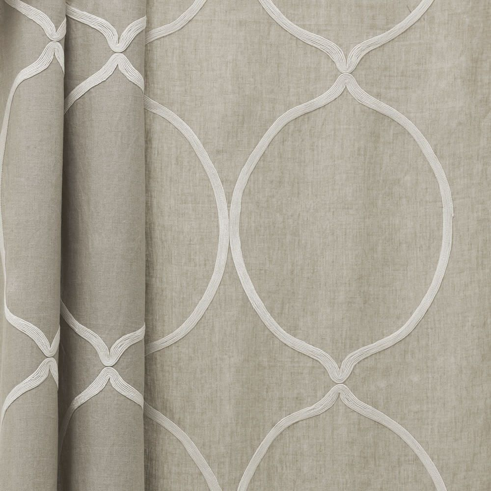Curtain Fabric Patterned Linen Arles Dedar Milano Within Curtain Linen Fabric (Image 4 of 15)