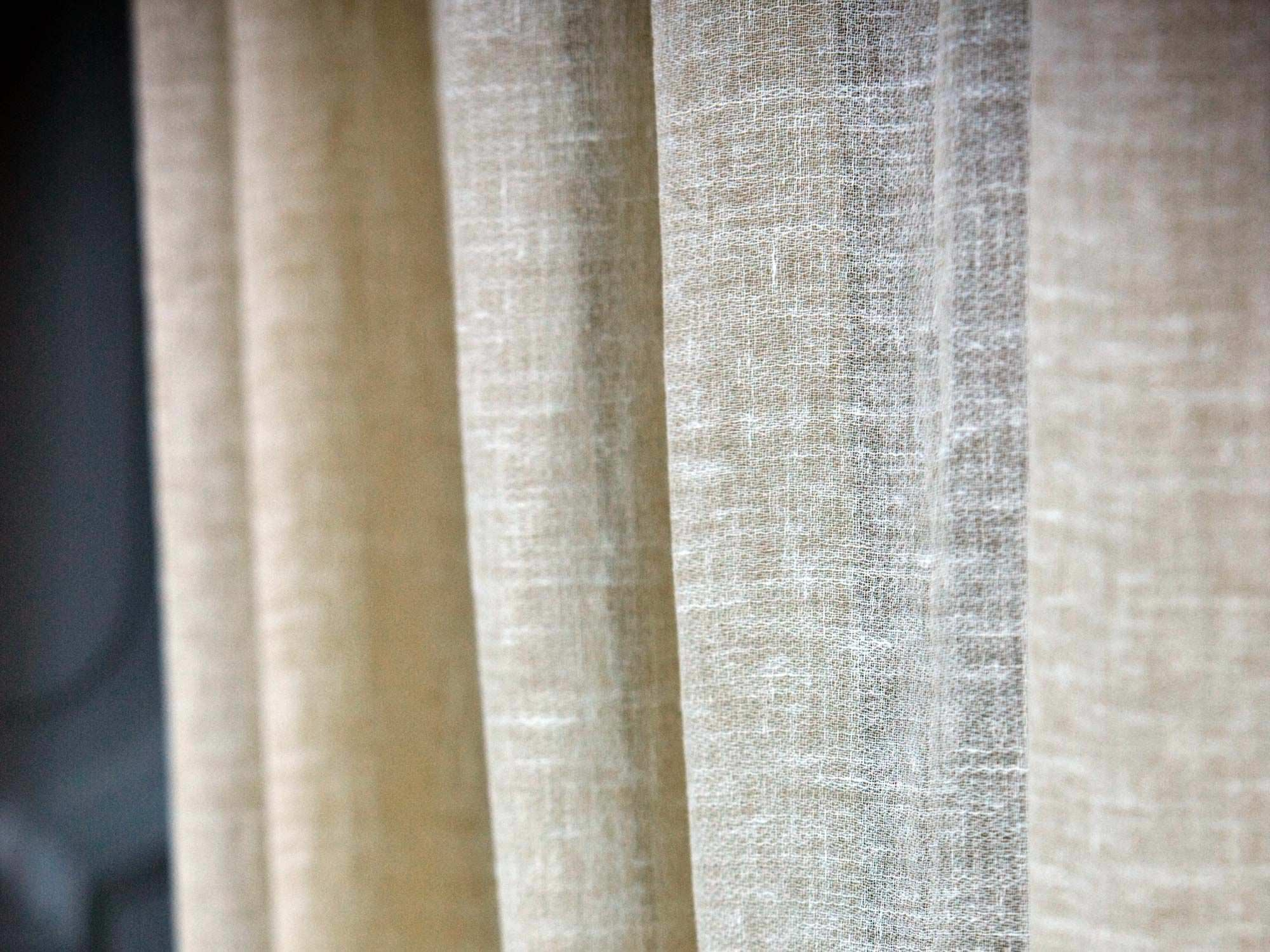 Curtain Fabric Plain Linen Light Linolana Mastro Raphal For Plain Linen Curtains (Image 5 of 15)
