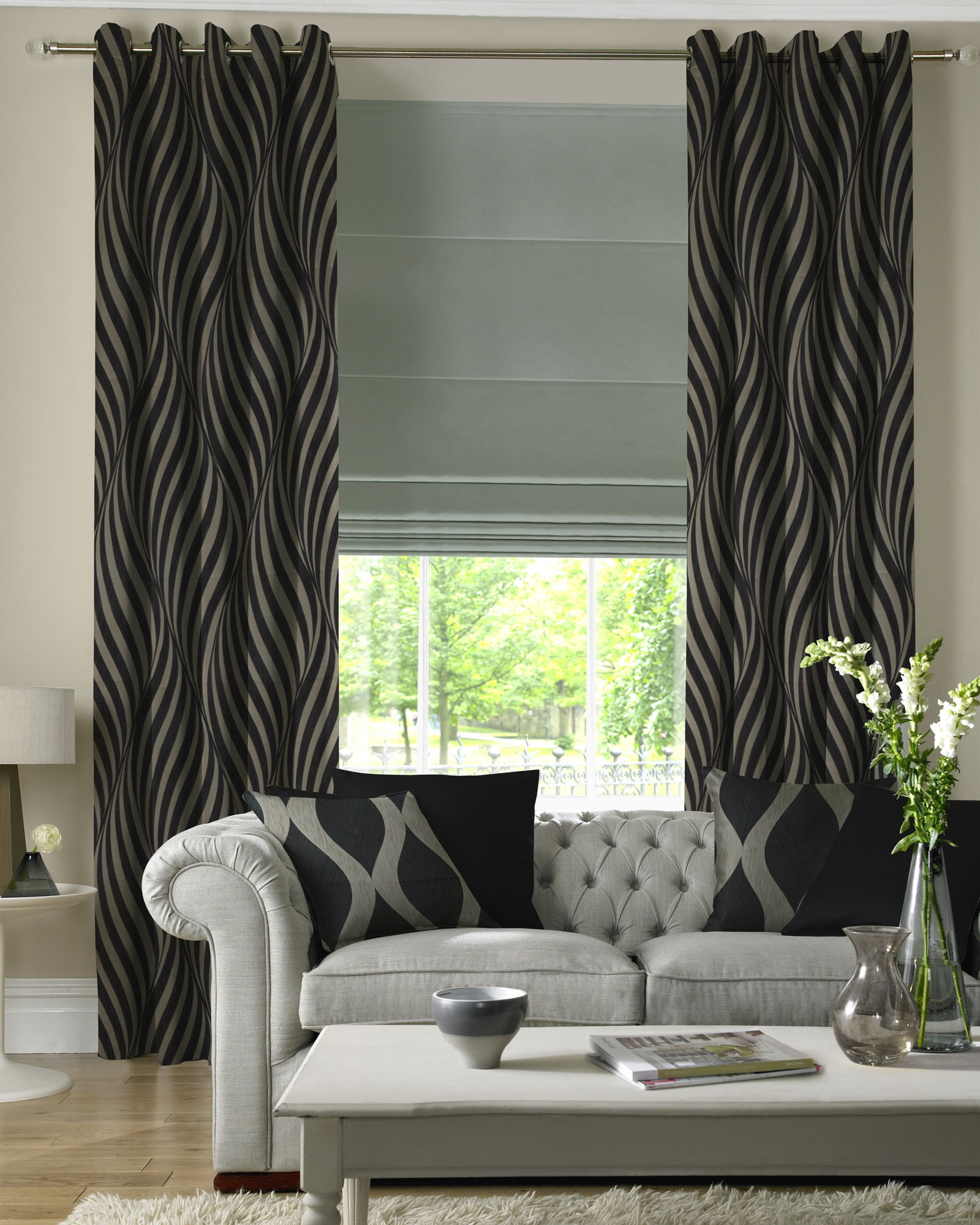 Curtain Glamorous Curtains And Blinds Motorized Curtains And Within Roman Blinds Black (View 11 of 15)