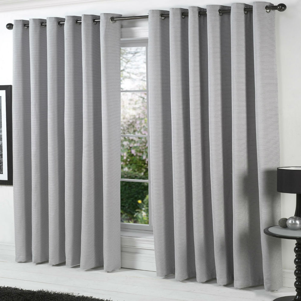 Curtain Grey Curtain Panels For Minimalist Decoration Ideas Grey Within Heavy Lined Curtains (Image 2 of 15)