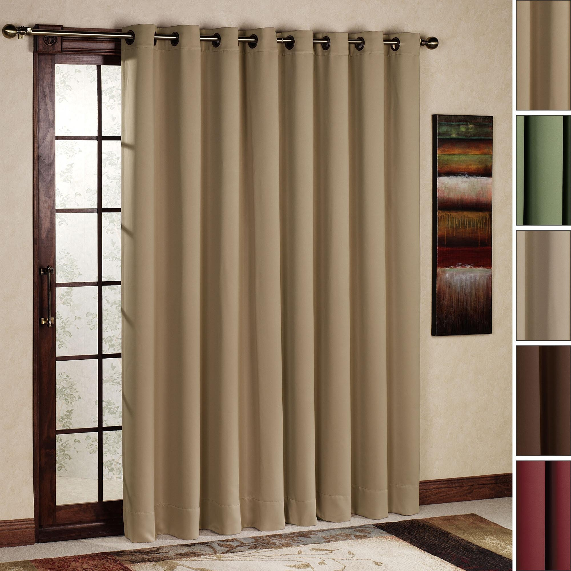 Curtain Rod Size For Sliding Glass Door Curtain Rods Pinterest Intended For Fabric Doorway Curtains (Image 4 of 15)