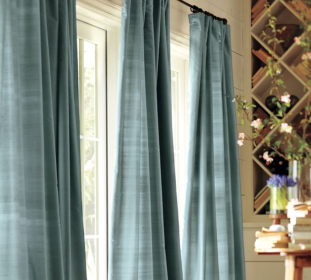 Curtain Small Aparment Window Curtains Ikea Decoration Ideas In Silky Curtains (Image 3 of 15)