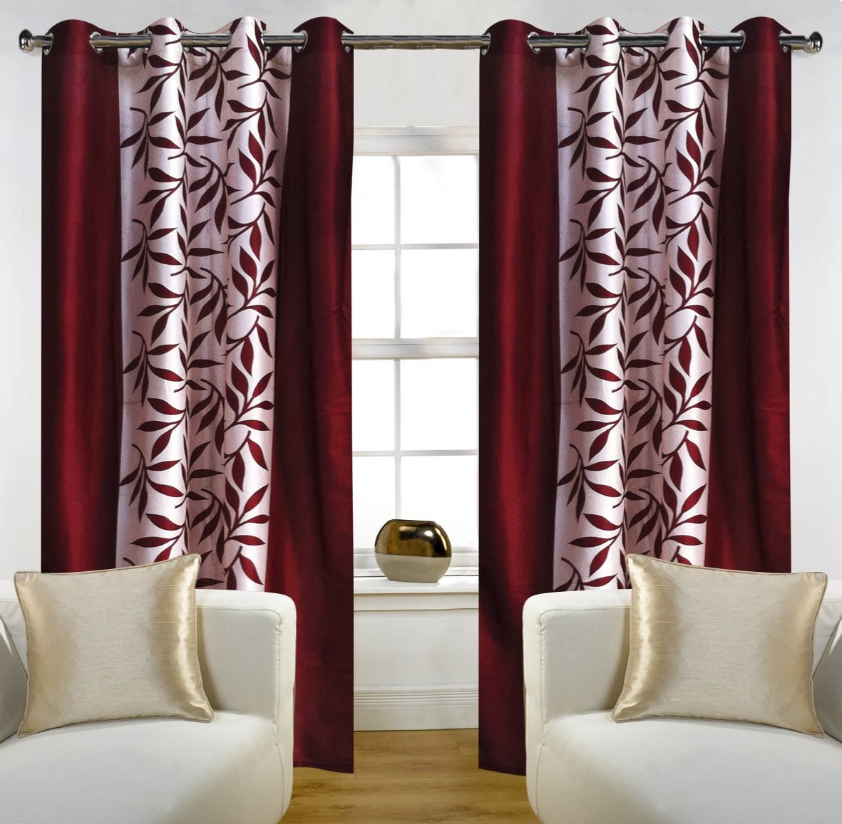 Curtains Buy Curtains Online At Low Prices In India Amazonin Within Single Curtains For Doors (Image 6 of 15)