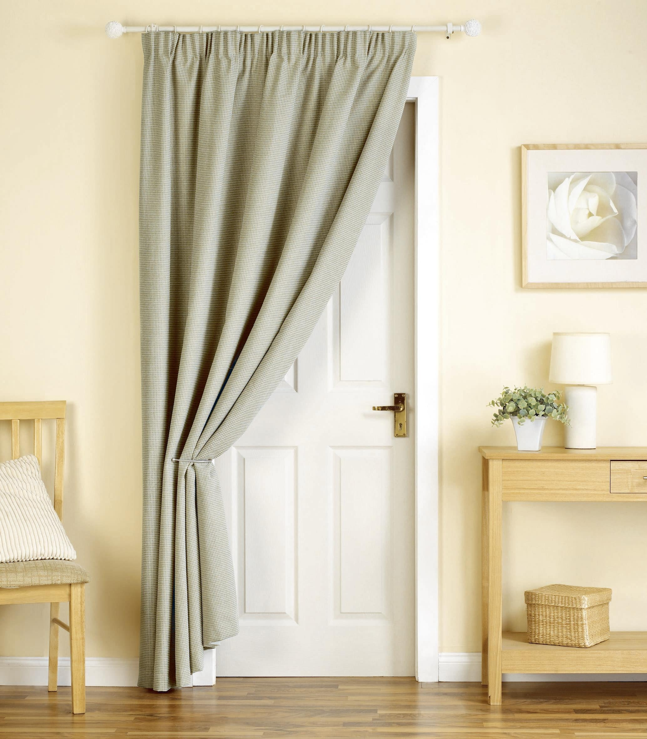 Curtains Door United Curtain Co Batiste Half Rod Pocket Door With Main Door  Curtains (Image
