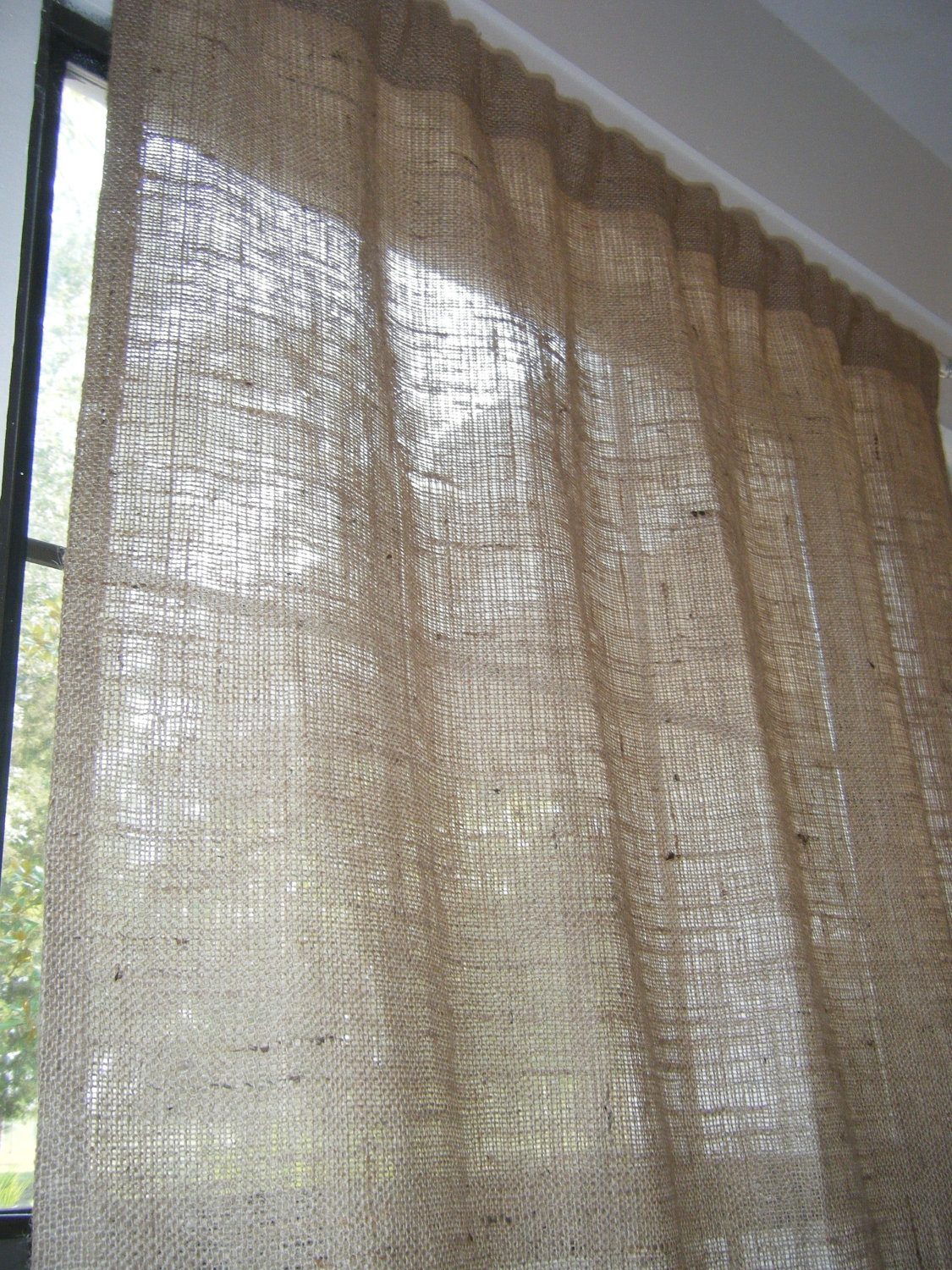 Curtains Etsy Within Hessian Curtains (Image 6 of 15)
