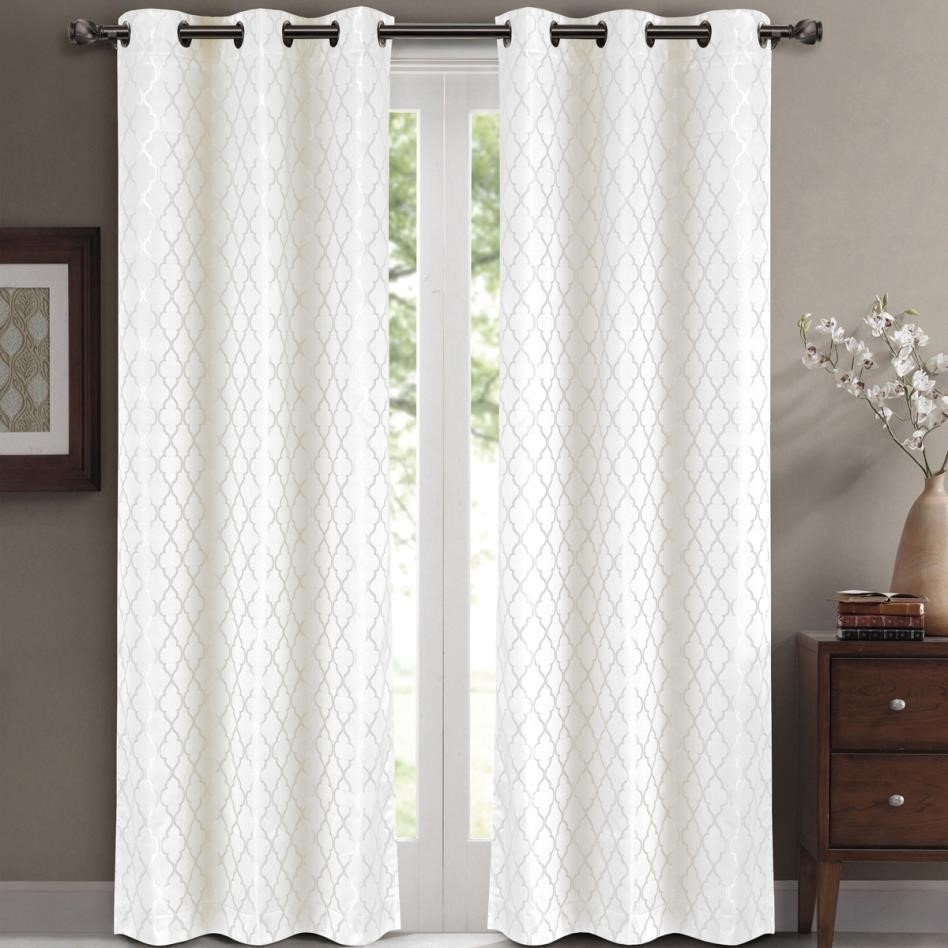 Curtains Eyelet Lined Julian Charles Luxury White Blackout For Luxury White Curtains (Image 2 of 15)