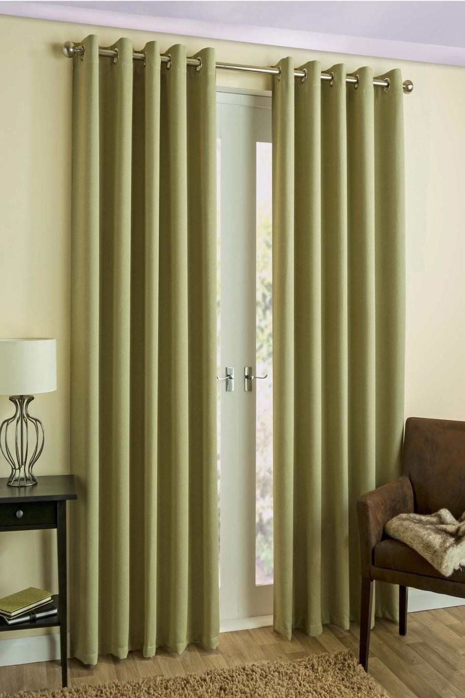 Curtains Faux Silk Kids Drapes Bright Kids Lime Green Blackout Regarding Blackout Curtains Bay Window (Image 9 of 15)