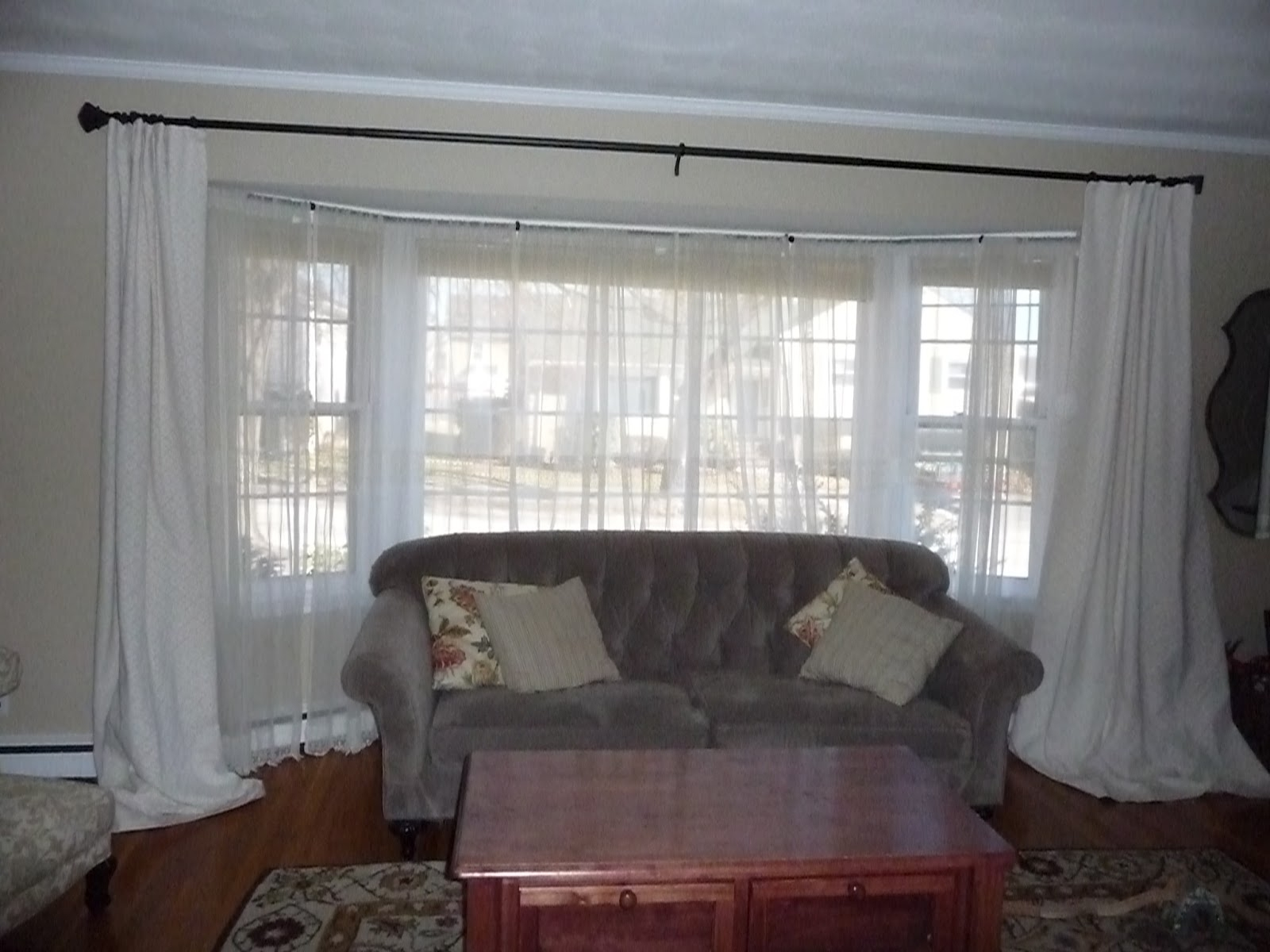 Curtains For Bay Windows Ideas Bay Window Curtains For Living Room Inside Bay Windows Curtains (Image 7 of 15)