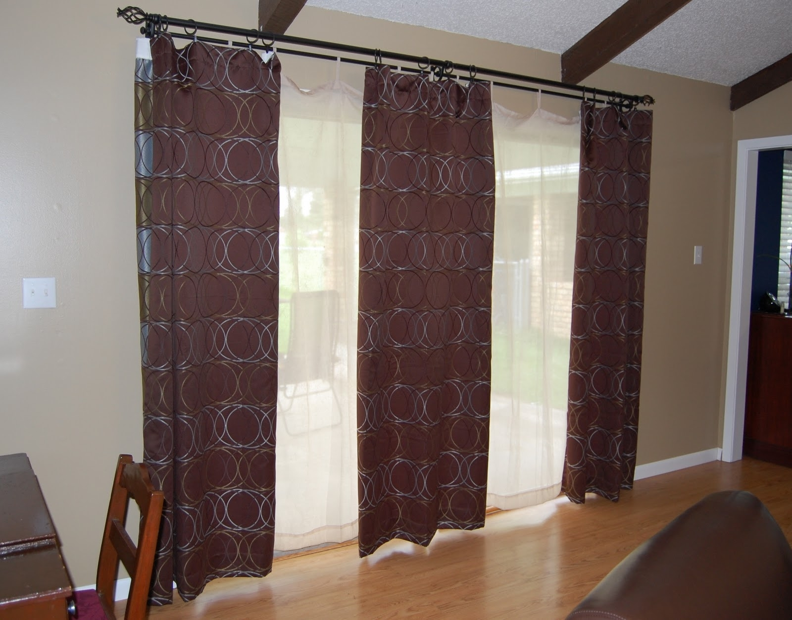 Curtains For Patio Doors Patio Door Blinds And Curtains Blinds Regarding Extra Long Door Curtain (Image 5 of 15)