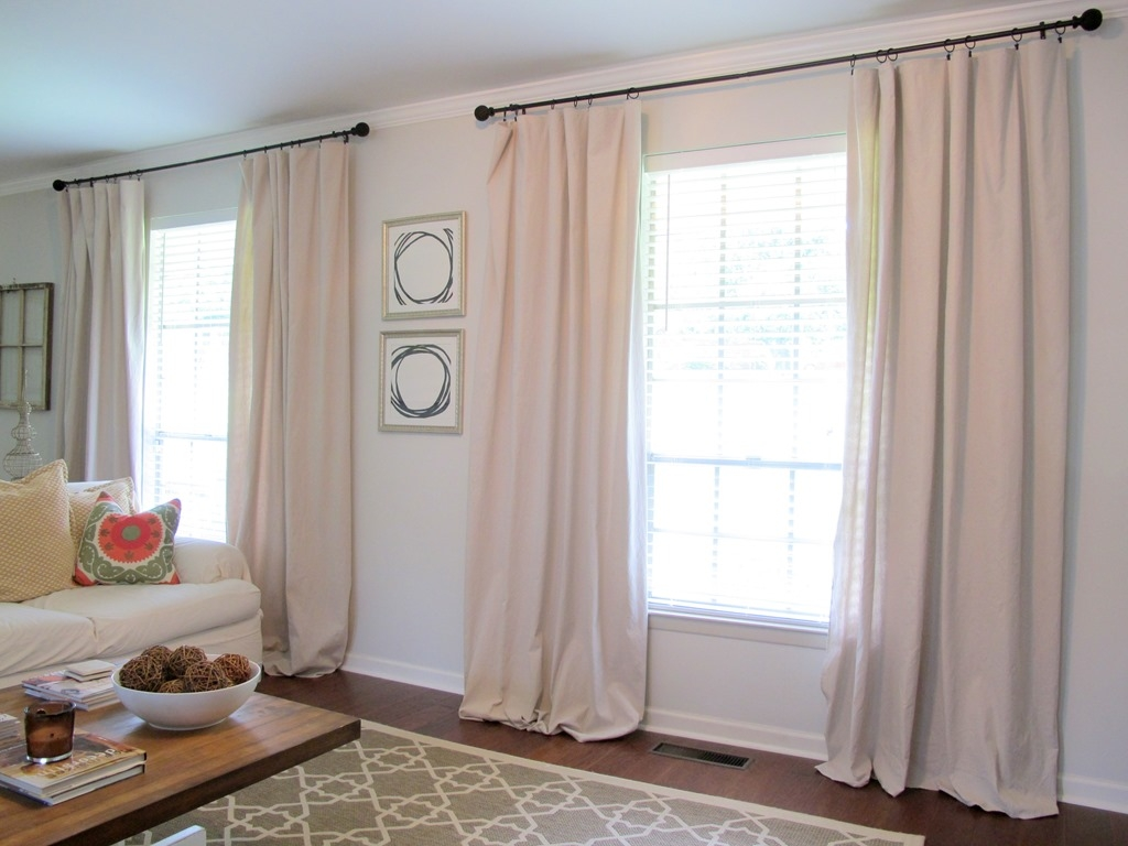 Curtains From Drop Cloths Live The Home Life Throughout Long Drop Curtains (Image 3 of 15)