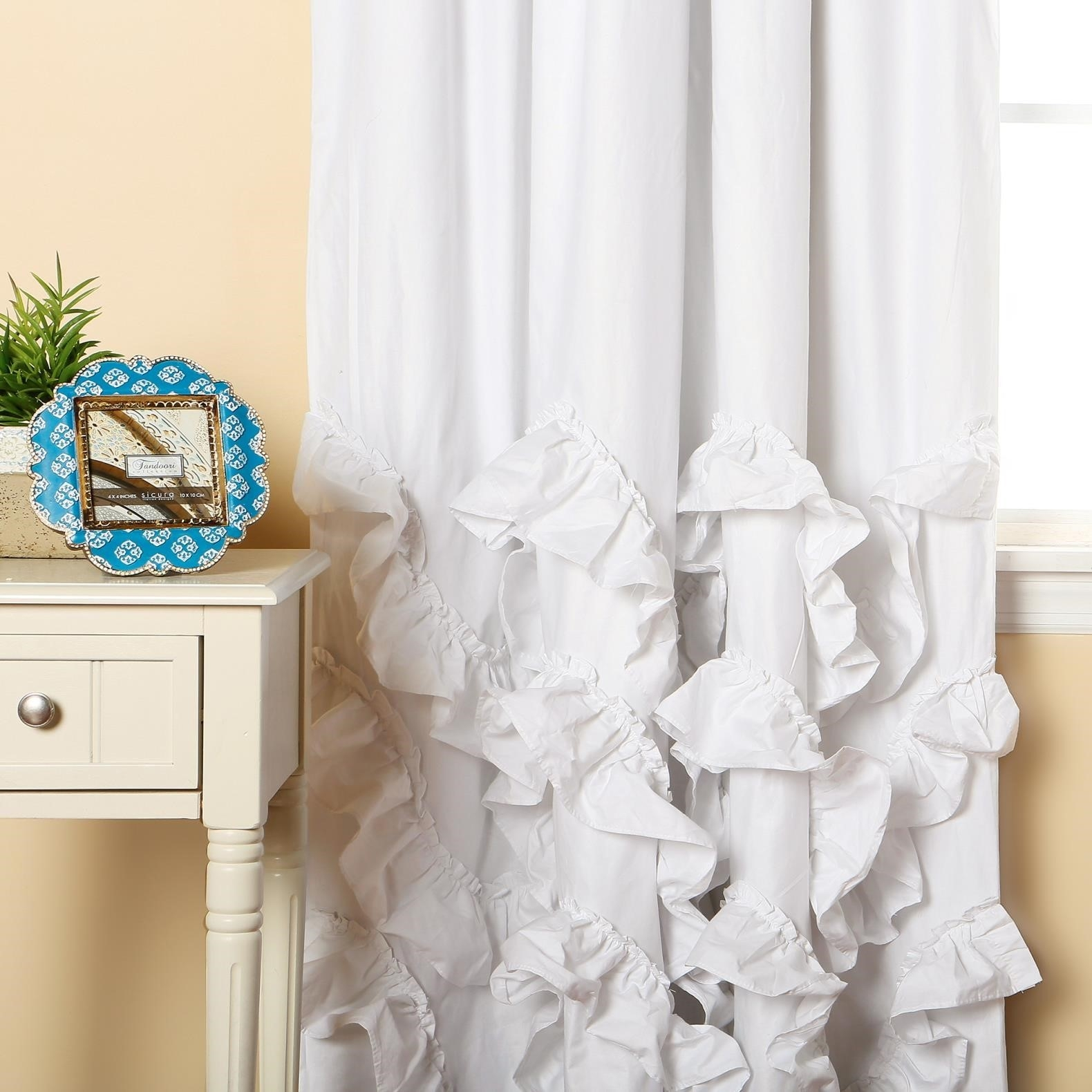 Curtains Grommet White Blackout Curtains Best With Liner With Throughout White Opaque Curtains (Image 2 of 15)