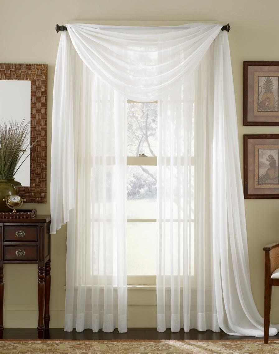 Curtains Grommets Shop Sheer Gold Curtains Stripe Outdoor With Regarding Extra Long Voile Curtains (Image 4 of 15)