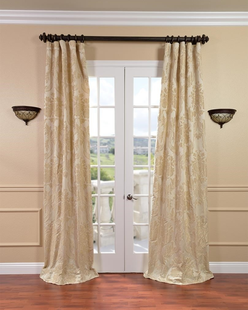 Curtains Grommets Shop Sheer Gold Curtains Stripe Outdoor With Throughout Extra Long Voile Curtains (Image 5 of 15)