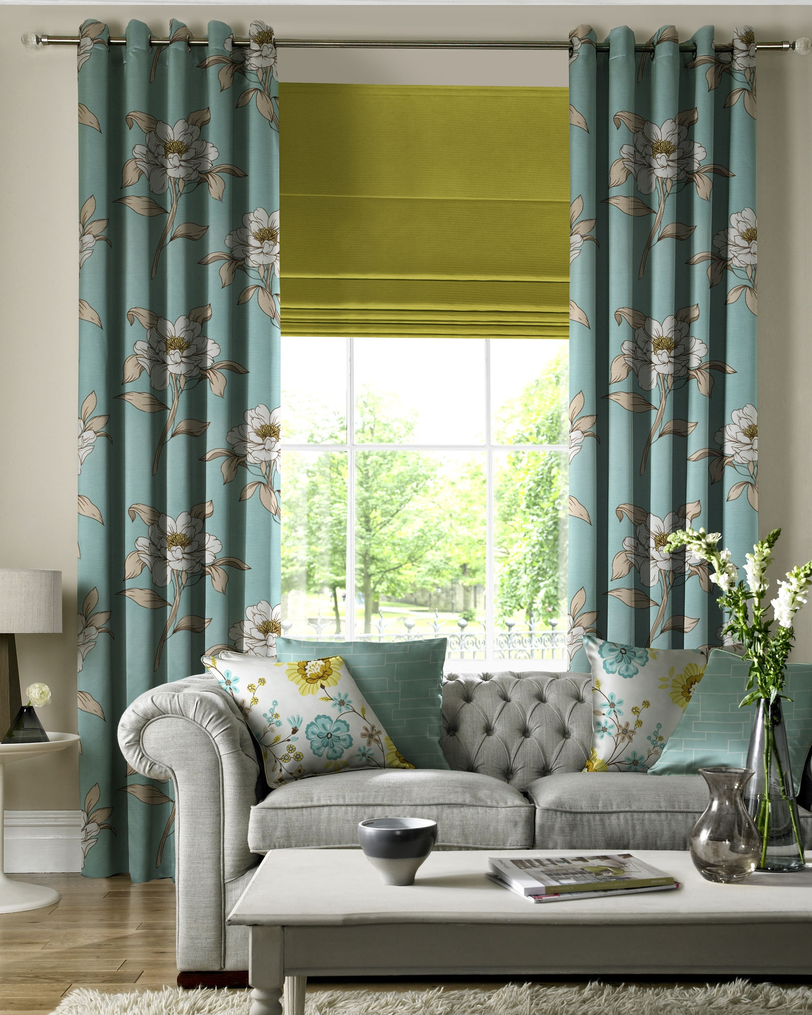 15 collection of matching curtains and roman blinds curtain ideas - Clever window curtain ideas matched with interior atmosphere and concept ...