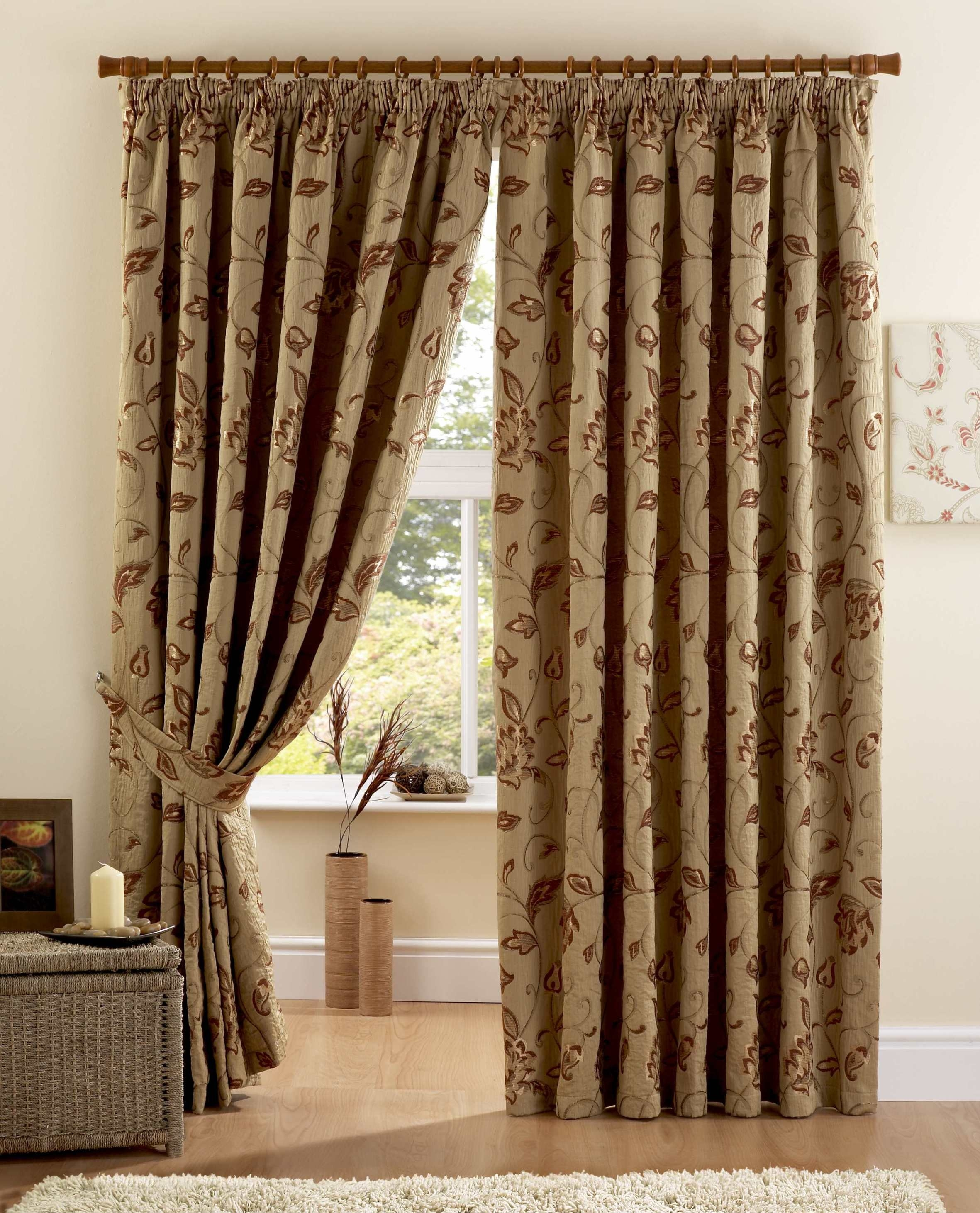 Curtains Pole Accessories Maybury Terracotta Fully Lined Inside Luxury Curtains (Image 5 of 15)