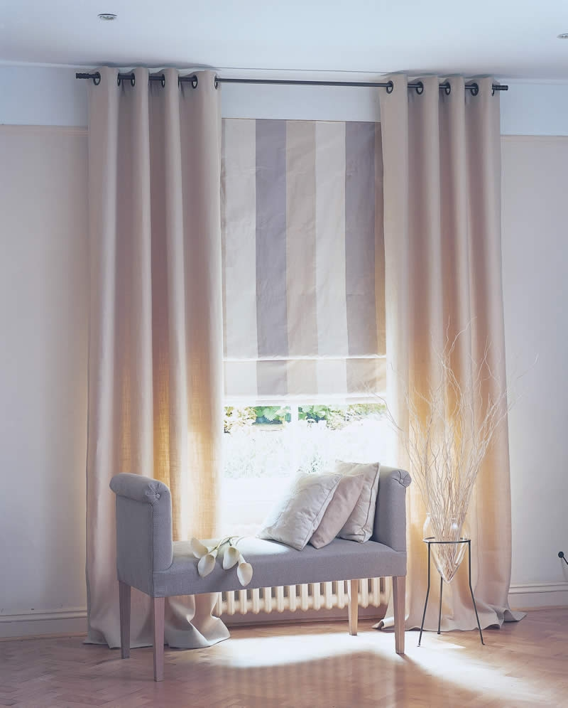Curtains Roman Dollar Curtains U0026 Blinds Sheer Curtains U0026 With Regard To Striped Roman Blinds (Image 6 of 15)
