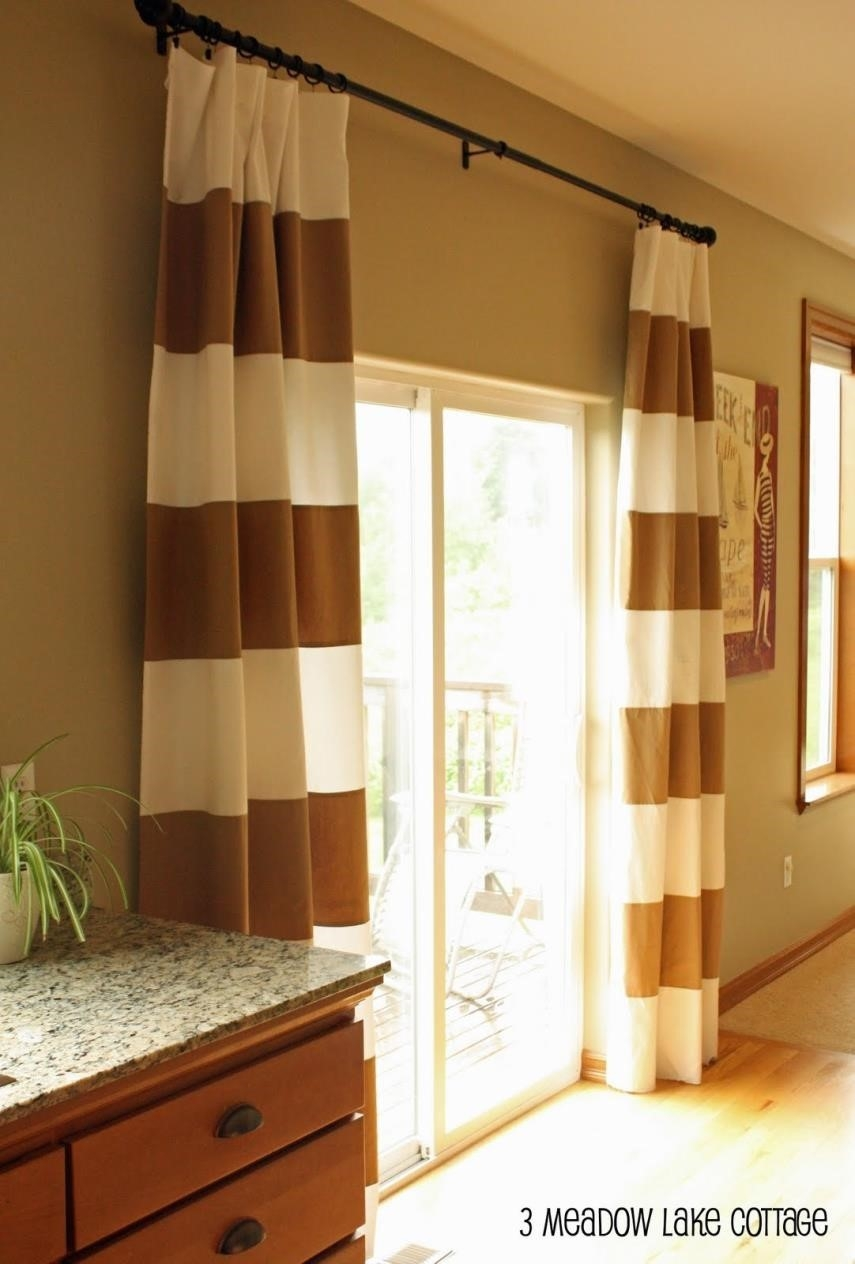 Curtains Striped Curtains Amazing Fabric Modern Window Curtain Intended For Green And Cream Striped Curtains (Image 7 of 15)