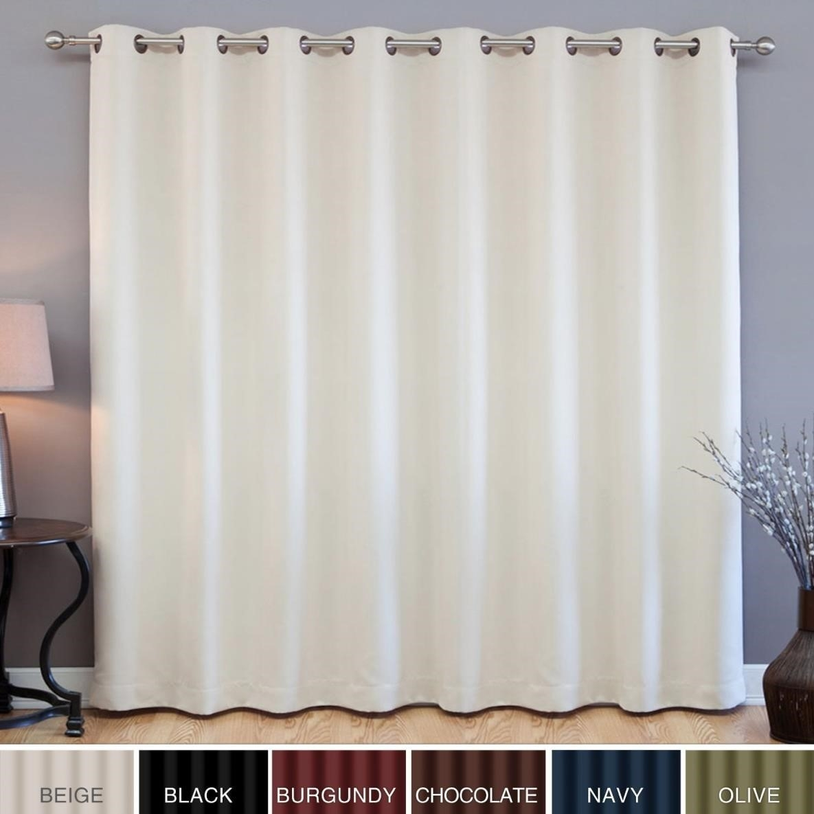Curtains White Blackout Curtains Curtainss With Regard To White Opaque Curtains (Image 3 of 15)