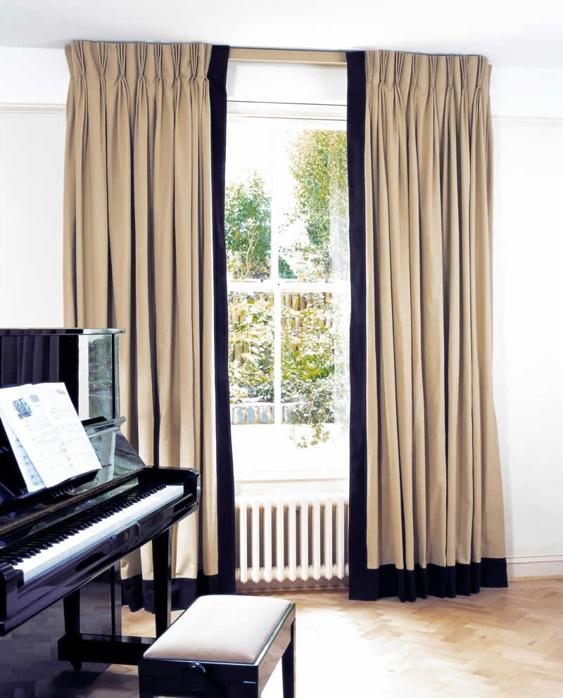 Curtains With Leading Edge And Bottom Borders Curtains Regarding Plain Linen Curtains (Image 8 of 15)